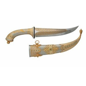 Нож Восточный (с камнями)