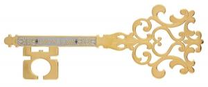 Ключ сувенирный украшенный Счастье в дом