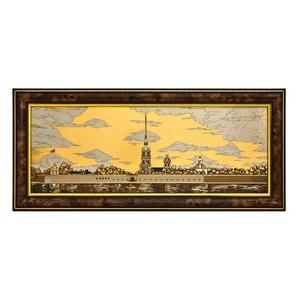 Петропавловская крепость (горизонт.) ( в раме)