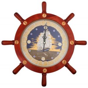 Часы в штурвале Свежий ветер