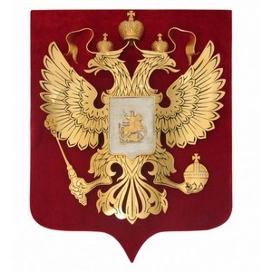 Герб России на бархате